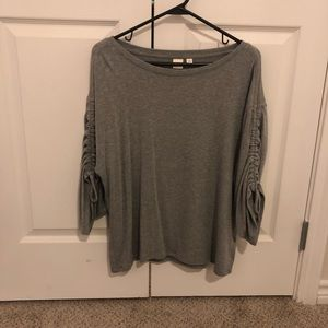 GAP grey blouse.